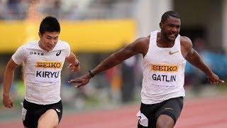 Justin GATLIN wins 100m OSAKA GOLDEN GRAND PRIX 2018