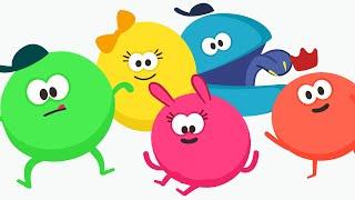 Cinco amigos saltando en la cama ❤️ Canciones infantiles con letra para cantar ❤️ Boingus