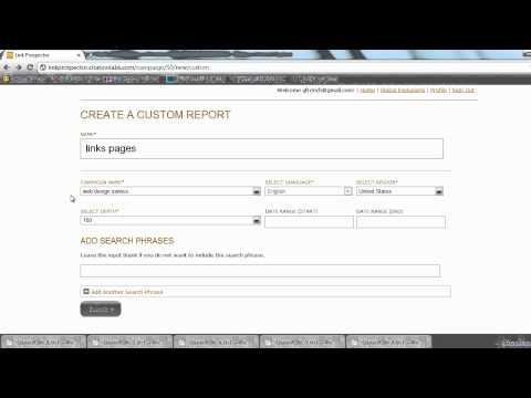 Link Prospector Beta Demo 2 - Citation Labs