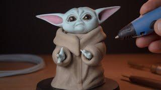 3D Pen   Making Baby Yoda   The Mandalorian - STAR WARS