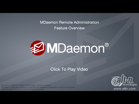 MDaemon Remote Administration - Version 16 Overview