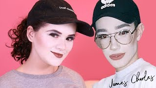 "I Tried Following James Charles Makeup Tutorial Flashback Mary ""Recreating My Memes"" Video!"