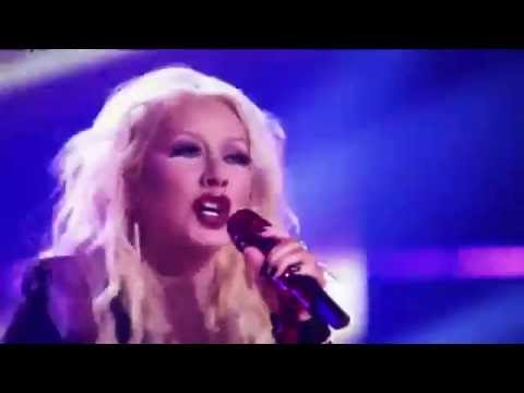 Christina Aguilera singing on The Voice Season 10