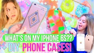 What's on my iPhone 6s Rose Gold?? | + DIY Phone Cases!!
