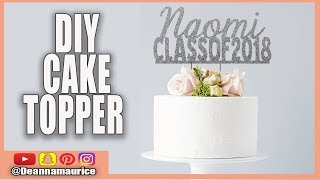 DIY Cake topper | cricut and photoshop tutorial