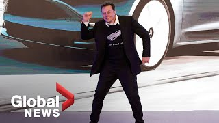 Elon Musk shows off bizarre dance moves at Tesla event in China