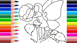 Fairies Coloring | The coloring book | Coloring Pages and Color a FAIRY for Kids