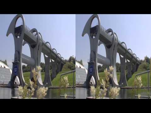 Scotland Falkirk Wheel 1min 3D