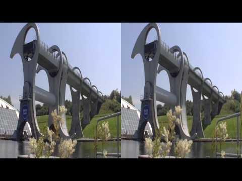Scotland Falkirk Wheel 1min 3D