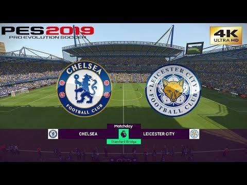 PES 2019 (PC) Chelsea vs Leicester City | PREMIER LEAGUE PREDICTION | 18/08/2019 | 4K 60FPS