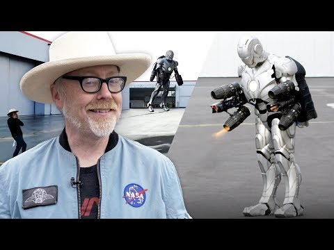 Adam Savage builds a titanium Iron Man suit that flies