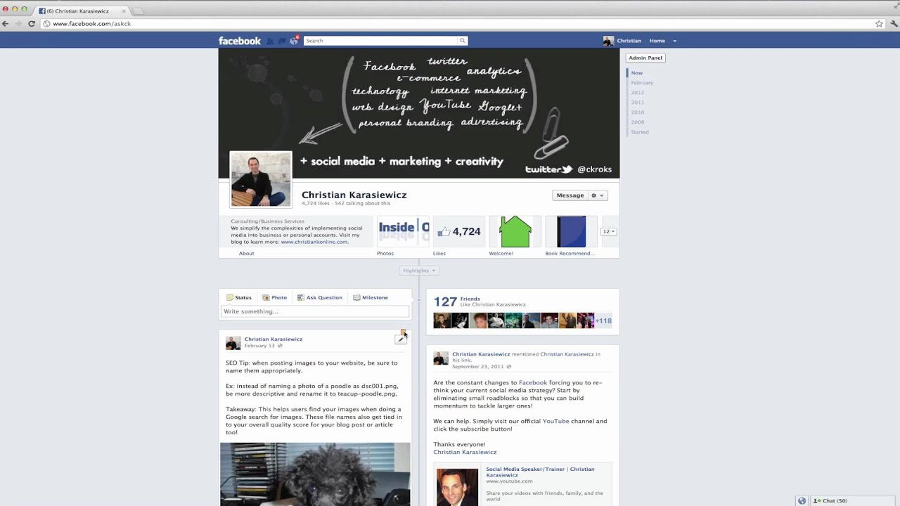 How do I pin a post to the top of my Facebook Page - YouTube