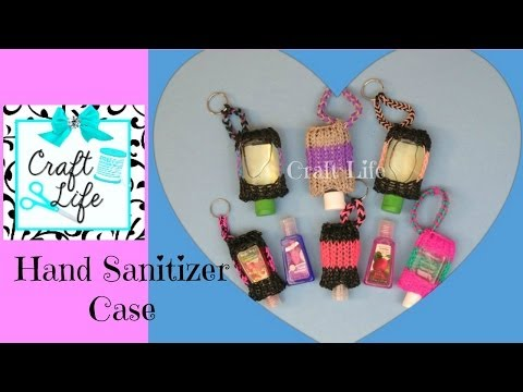 Craft Life Hand Sanitizer Case Tutorial On One Rainbow ... Rainbow Loom Mini Purse Craft Life