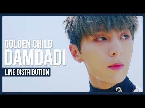 Golden Child - DamDaDi Line Distribution (Color Coded)