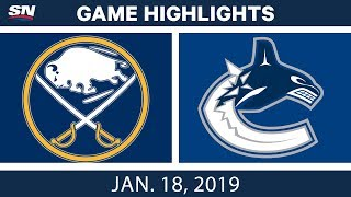 NHL Highlights | Sabres vs. Canucks - Jan. 18, 2019