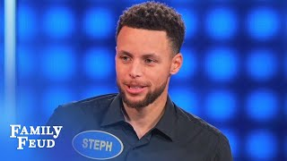 Don't forget Popeye's package Steph! | Celebrity Family Feud