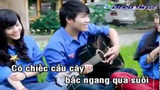 Karaoke Nhạc Sống Em đi Qua Cầu Cây HD Melody Beat++ YouTube