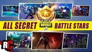 All 7 Secret BATTLE STAR Locations   Fortnite (All Blockbluster Stars + Loading Screen Challenges)
