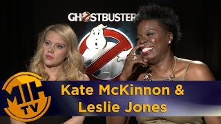 Kate McKinnon and Leslie Jones interview - Ghostbusters