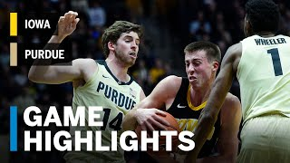 Highlights: Iowa at Purdue | Big Ten Basketball