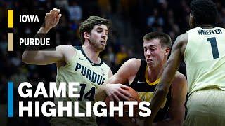 Highlights: Iowa at Purdue | Big Ten Basketball