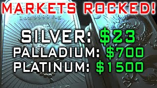 Markets Rocked! Silver EXPLODES To $23 | Palladium PLUMMETS $1000 | Kitco Glitch