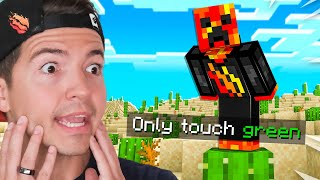 Minecraft But I Can Only Touch The Color Green