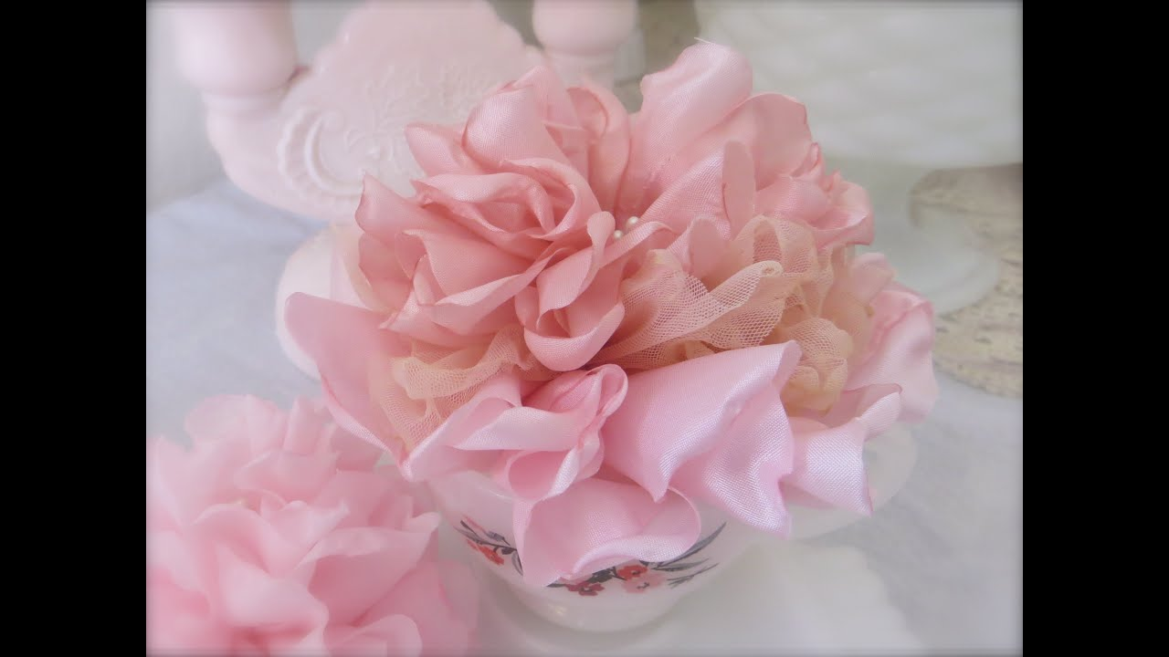 Beautiful And Easy Singed Melted Fabric Flower Tutorial