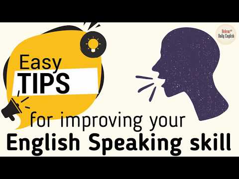 How to improve English Speaking skill (by yourself) | Easy tips for Learners