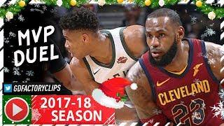 LeBron James vs Giannis Antetokounmpo 3rd MVP Duel Highlights (2017.12.19) Cavs vs Bucks - MUST SEE!