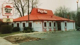 Knocking down old Pizza Hut Roseville Michigan 4k