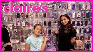 CLAIRES 3 PHONE CASES CHALLENGE | SISTER FOREVER