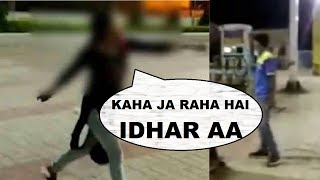 Viral video: Drunk girl follows & abuses men at a patr..