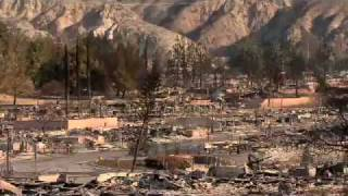 Fire aftermath in Sylmar