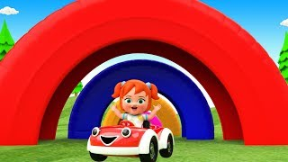 Learn Colors for Children with Little Baby Girl Fun Toy Car Ride Color Tires Arch Tracks 3D Kids Edu - YouTube