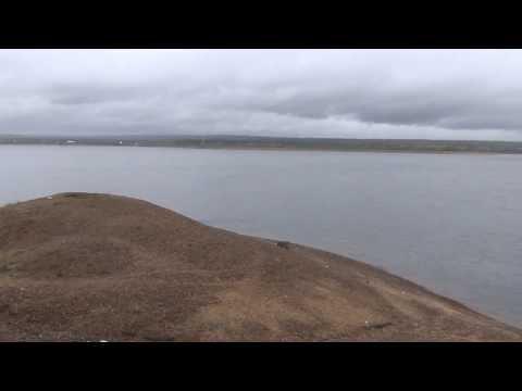 Лесосибирск река Енисей и школа интернат