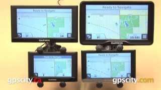 """Garmin nuvi Screen Size Comparison: 4.3"""", 5"""", 6.1"""", 7"""""""
