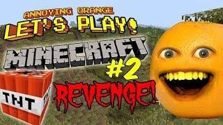 Annoying Orange Let's Play Minecraft #2: TNT Revenge!!!