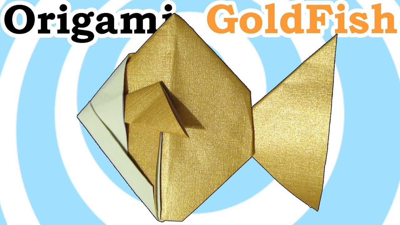 Traditional Origami Godfish Paper Origami Guide