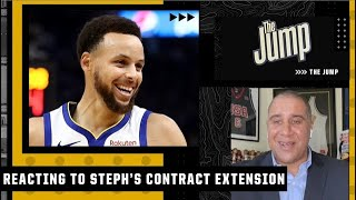 'Give Steph ALL the money!' - Marc J. Spears reacts to the Warriors re-signing Curry | The Jump