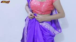 How To Wear Saree In Seedha Pallu | Weird Trick and Tips To Drape Indian Sari | Learn To Wear Own
