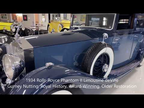video 1934 Rolls-Royce Phantom II Limousine deVille