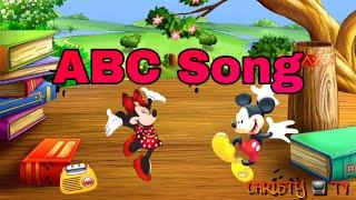 Mickey & Minnie Mouse learn ABC Song | Nursery Rhymes