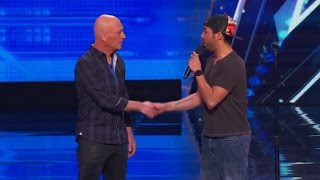 America's Got Talent 2015 S10E01 Chris Jones Hypnotizes Howie Out Of His Germaphobia