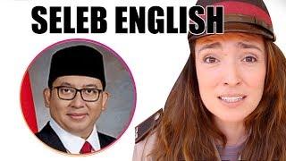 Fadli Zon, Nicholas Saputra, Luna Maya - Seleb English