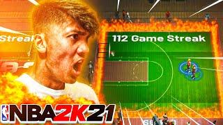 I WENT ON A 113 WIN STREAK ON NBA 2K21! (WORLD RECORD)