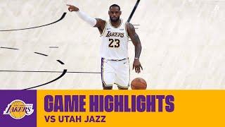 HIGHLIGHTS | LeBron James (20 pts, 12 ast, 4 reb) vs. Utah Jazz
