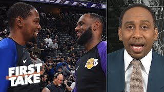 Kevin Durant joining LeBron on the Lakers would be the worst move - Stephen A. | First Take