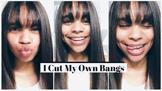 cutting my own bangs 💇🏾♀️✂️