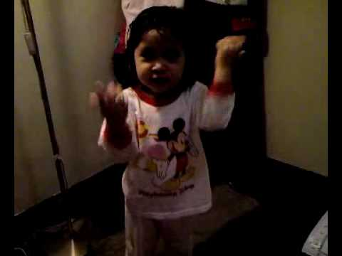Nadyne singing the 10 Malaikat song @ 2 years old